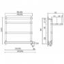 Полотенцесушитель электрический Margaroli 370-554 бронза